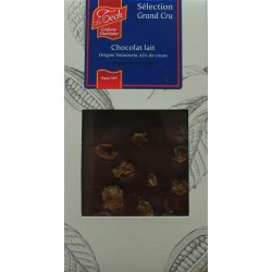 TABLETTE CHOC LAIT ORIG RAISIN BL 100G