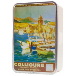 "COFFRET FER ""COLLIOURE"" 600G"